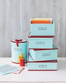 Stylish and functional, these storage boxes are treasured by Livings decorating editorial director, Kevin Sharkey: Its a practical way to bring color into your home or your office.
