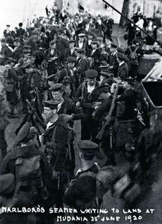 İngilizler Mudanya'ya asker çıkarıyor. (25 Haziran 1920)