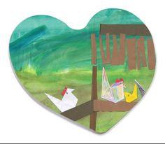 Kid's Art - Heart Shaped Magnet (Personalise it!