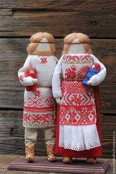 """Кукла """"Семья"""" - семья,русская кукла,орнамент,орнамент на ткани,народная кукла"""