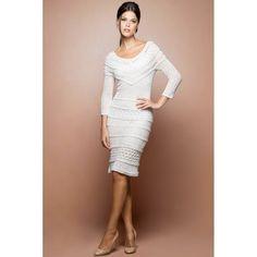 White Poupee Crochet Dress - Vanessa Montoro USA - vanessamontorolojausa