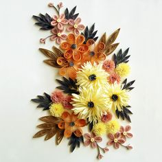 Flowers Handmade Quilling Decoration Material Bag 20*29cm