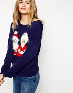 ASOS Christmas Jumper With Mr & Mrs Claus