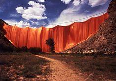Christo, Valley Curtain,Colorado