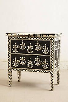 Paisley Inlay Dresser by Anthropologie Black & White One Size Furniture Unique Furniture, Accent Furniture, Furniture Decor, Painted Furniture, Furniture Design, Patterned Furniture, Moroccan Furniture, Indian Furniture, Buffets