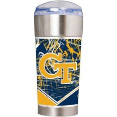Ncaa Georgia Tech Yellow Jackets The Eagle 24 oz Vacuum Insulated Stainless Steel Party Cup, Silver