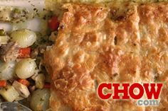 Talk CHOW: Chicken Pot Pie is an easy dinner when you use a pre-made puff pastry crust and leftover chicken.