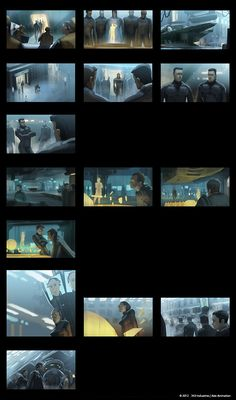 Early colour script for episode 1 of Halo 4 Spartan Ops animated series by Axis Animation. Color Script, Traditional Paintings, Environmental Art, Live Action, Storyboard, Cinematography, Art Reference, Halo, Concept Art