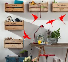 Ideias de Decoração para Interiores com Caixotes de Madeira - http://www.dicasdecoracao.com/ideias-de-decoracao-para-interiores-com-caixotes-de-madeira/