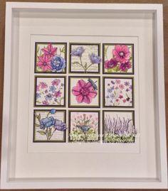 Spring Petals Shadowbox Collage