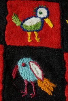 Woolen embrodery