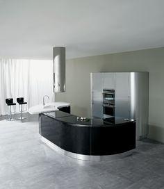 Diseño de cocinas plateadas