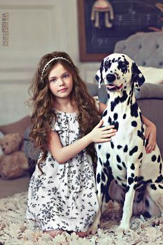 Girl & Dalmatian