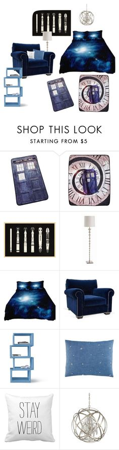 """doctor who bedroom"" by iuzzini on Polyvore featuring interior, interiors, interior design, home, home decor, interior decorating, Arteriors, Barclay Butera, Twentyfirst and Humör"