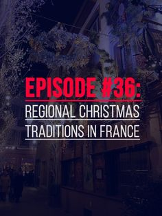 A new episode about some French Christmas Traditions. Including one with 13 desserts (during one meal!). Also you will learn about the Verlan (Colloquial French): How to use it? When to use it? http://www.talkinfrench.com/podcast36/ Do not hesitate to share.