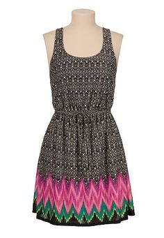 open Knot back printed tank dress (original price, $34) available at #Maurices