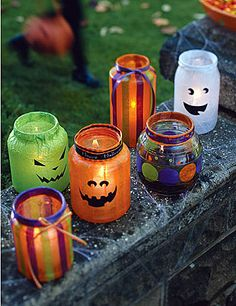 monster jars (use glass jars mayo, pimentos, etc and fill with candy)