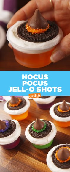 Hocus Pocus fans: tag the witches you know will take these Jell-O shots down with you ✨Get the recipe at Delish.com.