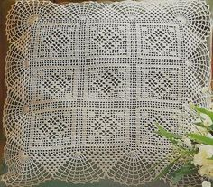squares and fans cushion - free pattern