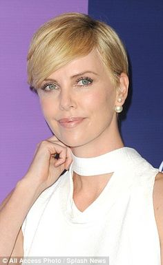 Charlize Theron short hairstyle.
