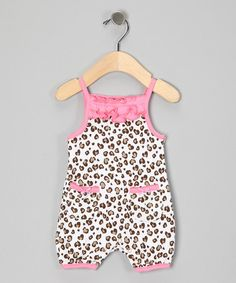 Take a look at this Pink Leopard Romper by Carter's Watch The Wear on #zulily today!