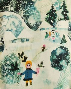 Bozena Truchanowska - Fairy stories by Lech Konopiński, 1970 Winter Illustration, Children's Book Illustration, Book Illustrations, You Draw, Vintage Children's Books, Christmas Art, Photo Art, Art For Kids, Folk Art