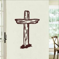 Rugged Cross Christian Vinyl Wall Decal 22287 This decal measures approx. x The color samples shown have been reproduced and may vary slightly from actual colors due to different monito Vader Star Wars, Rugged Style, Vinyl Wall Decals, Home Decor Items, Wood Signs, Rugs, Silhouette Cameo, Silhouettes, Christian Crosses
