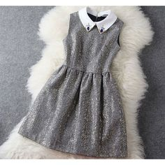 Cool!  Fashion Woolen Beaded Gold Sleeveless Dress Party Dress just $54.99 from ByGoods.com! I can't wait to get it!