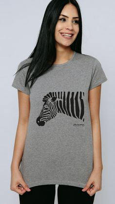 Wait, is a zebra black with white stripes or the other way round? Learn more about zebra stripes and our GOTS certified organic cotton collection at www.consciousshirt.com The White Stripes, Organic Cotton T Shirts, Coat Patterns, Sustainable Clothing, Tshirts Online, Shirt Outfit, Pure Products, T Shirts For Women, Tees