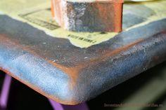 efecto oxidado con pintura