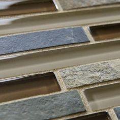 Merola Tile Tessera Piano Brixton 11-3/4 in. x 11-3/4 in. Stone & Glass Mosaic Wall Tile