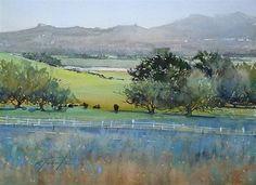 """""""Ramona Grassland I"""" - Original Fine Art for Sale - © Keiko Tanabe"""