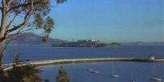 Aquatic park pier, with view of Alcatraz.