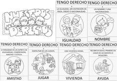 Fantásticos diseños para conocer los derechos de los niños y las niñas | Educación Primaria Diagram, Notebook, Bullet Journal, Education, Crafts, Constitution Day, Kids, Manualidades, Notebooks