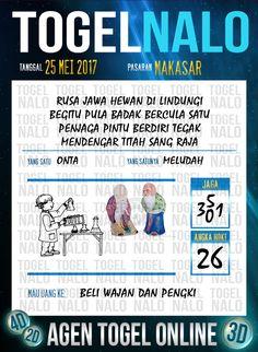 Pakong JP 3D Togel Wap Online TogelNalo Makassar 25 Mei 2017