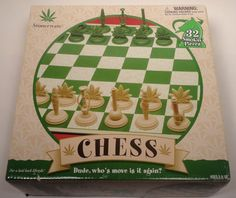 Stonerware Chess Set Stoner Age Game  Weed/Pot Leaf Marijuana Bong Pipe Tokens  http://stores.ebay.com/price-less-finds/Comic-Books-/_i.html?_fsub=10915999017