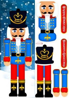 Nutcracker Soldier Christmas Step By Step Large DL on Craftsuprint - Add To Basket! Christmas Yard Art, Outdoor Christmas, Christmas Projects, Christmas Holidays, Christmas Ornaments, Nutcracker Crafts, Nutcracker Christmas Decorations, Christmas Soldiers, Nutcracker Soldier