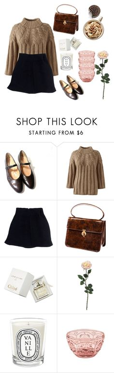 """""""Shopping day with babe. I actually crave EVERYTHING in this."""" by leeforlife ❤ liked on Polyvore featuring Lands' End, Acne Studios, Chloé, Diptyque and Fitz & Floyd"""