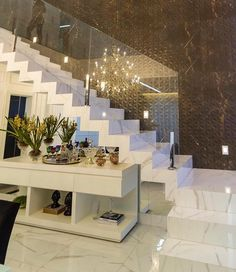Trendy Home Decored Ideas Modern Foyer Ideas Modern Foyer, Modern Stairs, Interior Stairs, Home Interior Design, Escalier Design, Sweet Home, Pinterest Home, Stairs Architecture, House Stairs