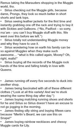 The Marauders and Muggle Shopping - Part 1