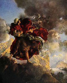 Arabian Nights art by Maxfield Parrish.
