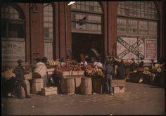 ---- : Outdoor urban market scene (cca 1910)