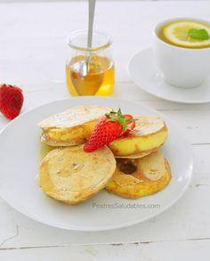 Postres Saludables | Pancakes crujientes de manzana | http://www.postressaludables.com