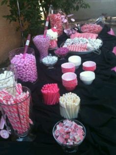 Hello Kitty Baby Shower Candy Buffet Table