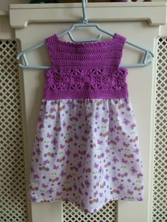crochet and fabric dress