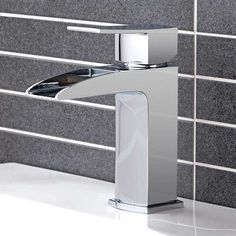 Tabor Waterfall Basin Mono Tap | Waterfall Bathroom Taps | Better Bathrooms