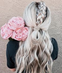 Braided blonde hair