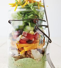 Southwest Chicken Salad with Whipped Avocado Dressing