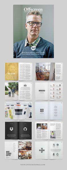 Editorial / Offscreen Issue No6 #iconika #Likes #graphic #design