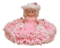 7160 PDF Crochet Bed Doll Pattern Mary Lu Crochet Bed Dol